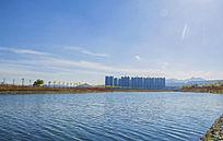 鞍山高新区河湾与玉龙湾建筑蓝天
