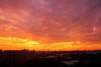 炫彩日落景色
