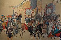 骑马演奏壁画