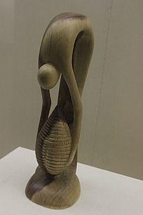 人与自然木雕