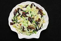 家常菜木耳油菜