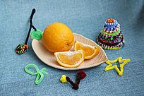 饰品与橙子拍摄
