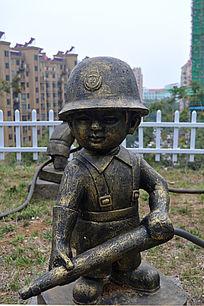 小消防员铜雕