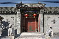 北京中式民居院门