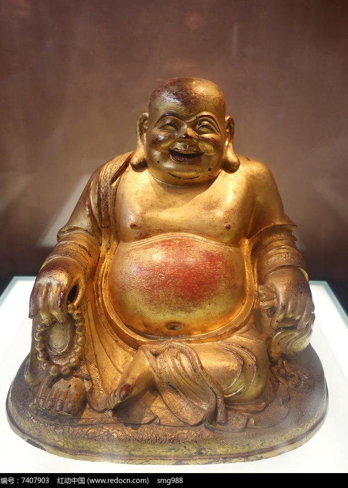 大肚弥勒佛铜像