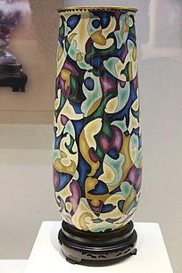 景泰蓝抽象画直口瓶