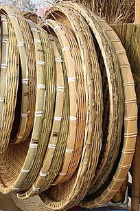 传统工艺竹编簸箕