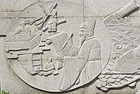 古代生活场景浮雕