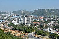 柳州市九头山旁五岔路口周边俯瞰图