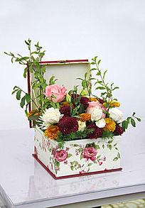 玫瑰菊花礼盒