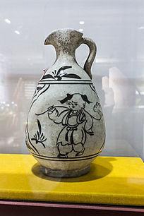 童趣白瓷小口酒壶