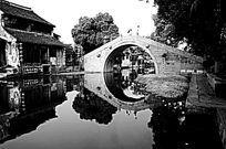 西塘石拱桥的民居