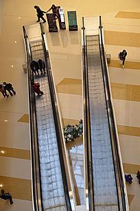 华润万象城商场里的自动扶梯