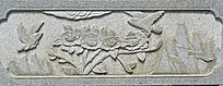 山水花卉浮雕