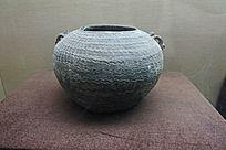 水波纹印纹硬陶罐