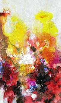 水墨流彩画现代抽象画玄关画
