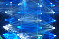 舞台蓝白光