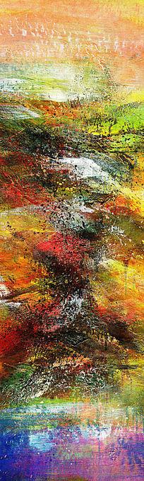 玄关抽象油画壁画背景墙