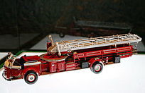 美国拉佛朗斯敞篷云梯车模型