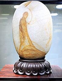 奇石画像佛缘摆件