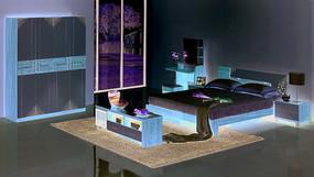 妆台妆凳衣柜电视柜床灯柜成人套房