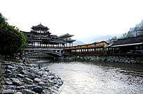 贵州千户苗寨廊桥远景