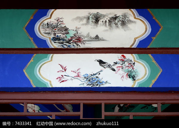 古建彩绘八哥花鸟图片