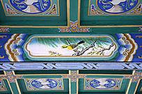 古建彩绘黄鹂鸣翠柳