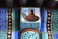 古建彩绘柱头装饰