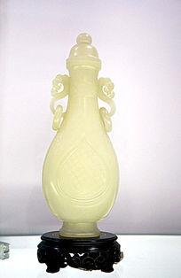 白玉雕春瓶
