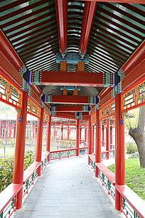 传统中式的回廊