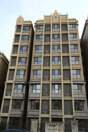 现代高层小区建筑