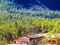 电脑画《森林人家》