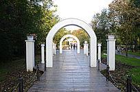 婚礼白色欧式石雕拱门