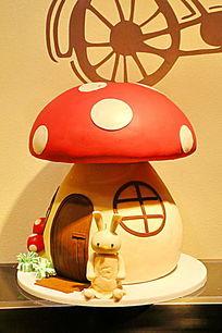蘑菇房子蛋糕