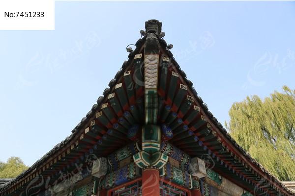 中式卯榫结构屋檐图片,高清大图_园林景观素材图片