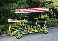 双排带棚自行车