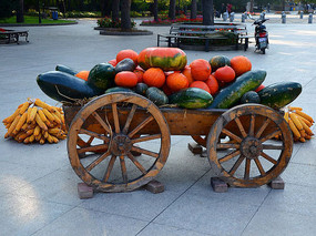 丰收的木车
