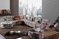 亮丽多彩沙发