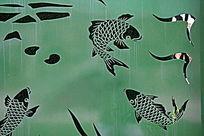 鲤鱼铁艺镂空塑像
