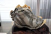 墨玉雕皮鞋