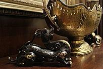 室内设计装饰品铜制麒麟