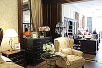 时尚室内家具沙发摆设