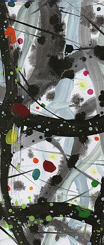水墨抽象油画