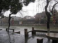 西塘烟雨长廊