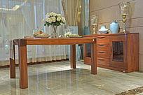 长方餐桌餐边柜
