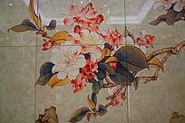 瓷砖花卉背景素材