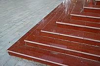 户外瓷砖阶梯一角