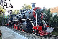老式蒸汽机车侧面