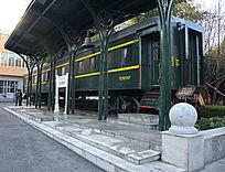 绿皮火车站台